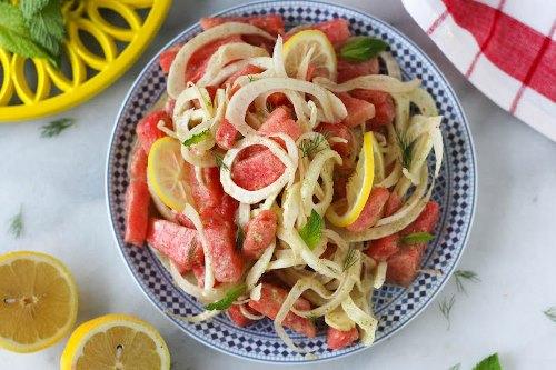 Watermelon-Fennel-Mint-Salad